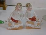 Pair Of German Snow Baby Figures