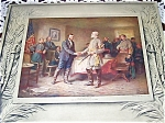 Vintage Art Calendar Civil War Print 1910 Jlg Ferris North South