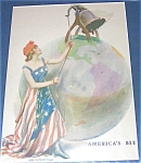 James Montgomery Flagg Wwi Lady & Liberty Bell, Patriotic