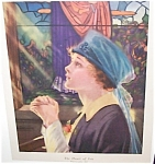 Wwi Era Print: Penhryn Stanlaws : Lady Prayers For A Soldier