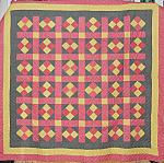 Penna Dutch Patchwork Quilt Circa 1900 [a]