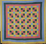 Penna Dutch Patchwork Quilt Circa 1900 [b]