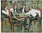 Antique Vintage Poker Card Game Print Clarence Underwood