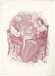 Engraving:building A Dollhouse: Dolls Print Late 1800's