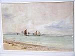 Edmund Morison Wimperis Watercolor Fishing Boats