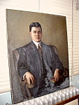 Oil On Canvas Portrait Of Doctor Early 20th Century