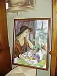 American Oil On Canvas, Solitare