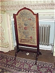 English Needlework And Mahagony Firescreen