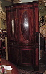 Rare Hepplewhite Serpentine Corner Cupboard