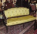 Regency Mahogany Upholstered Canape / Settee