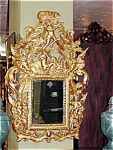 Italian Carved Gilded Cherub Mirror
