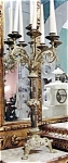 Pair Gilt Metal Light Candelabra