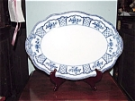 Flow Blue Melbourne Platter By W.h. Gradley