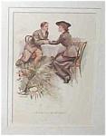 Vintage Harrison Fisher Print Victorian Romance