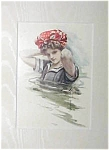 Prints Harrison Fisher: Aphrodite 1908 Lady Swimming Cap
