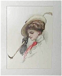 Prints: Equestrian Horseback Riding Lady Harrison Fisher Print
