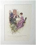 Victorian Antique Art Print: Harrison Fisher Romance
