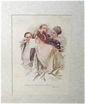 Vintage Prints 1908 Harrison Fisher- At The Opera, Victorian