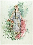 Vintage Harrison Fisher Print Lady Princess