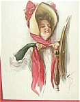 Art Harrison Fisher Vintage Print, Lady Red Bow Hat