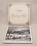 Currier & Ives Art Tile - American Winter Scene - Evening