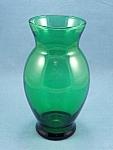 Anchor Hocking - Forest Green Vase - B