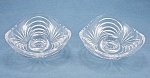 Contour Low Crystal Candle Pair - Saucer Style