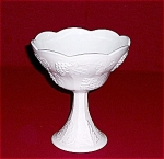 Indiana Glass Co.- Colony - Milk Glass Compote - Harvest Grape