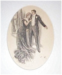 Harrison Fisher Print- Elegant Couple Victorian Party Romance