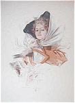 Harrison Fisher Original Large Print: Victorian Ladies Driving