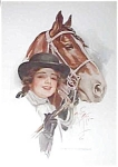 Vintage Harrison Fisher Riding Lady Horse Equestrian Print