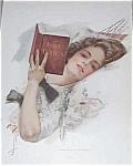 Harrison Fisher Print Love Lyrics Victorian Lady In Hammock