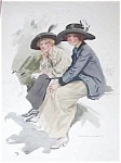 Original Harrison Fisher Print The Laugh Is On You: Friendship