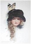 Vintage Harrison Fisher Print School Girl