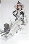 Vintage Dog Art Prints: Harrison Fisher Lady And Black Poodle