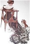Harrison Fisher Antique Dog Art Prints: Elegant Lady Pekingese
