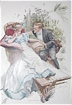 Harrison Fisher Print What Will She Say: Romance Engagements