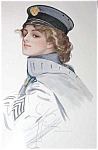 Harrison Fisher Print Military Lady Maid At Arms Wwi