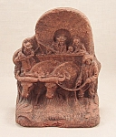 Syroco Bookend / Pioneers, Oxen, Wagon