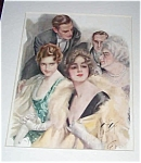 Vintage Harrison Fisher Print Romance Theater