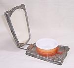 Celluloid Folding Shaving Mirror