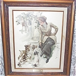 Antique Dog Art Prints: Harrison Fisher Collie Jack Russell Dogs