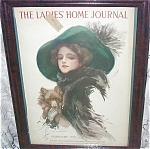 Ladies Home Journal Cover Harrison Fisher Pomeranian Dog