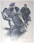 Harrison Fisher Print Victorian Romance