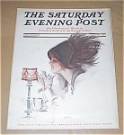 Saturday Evening Post Harrison Fisher Hot Chocolate Teacup Lady