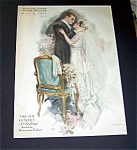 Harrison Fisher Print: Sense Of Feeling Bride Groom Wedding Night