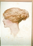 Harrison Fisher Print: Blonde Lady In Profile