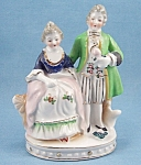 Figurines- Porcelain Couple - Ice Cream Cone