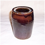 Dark Brown Glazed Crock