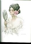 Vintage Victorian Vanity Lady Print Harrison Fisher